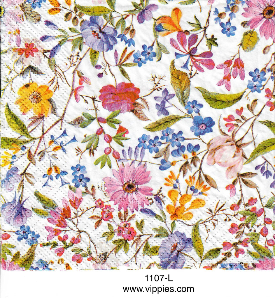 FL-1107 Meadow Flowers Napkin for Decoupage