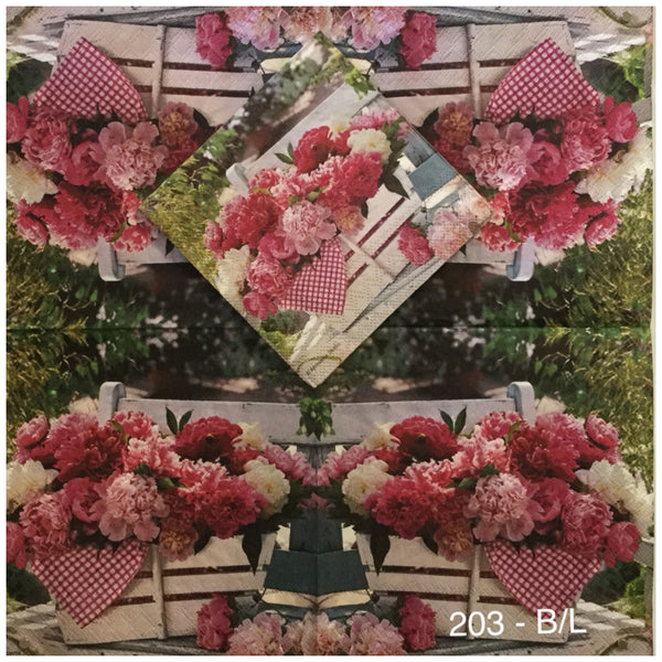 FL-203 Flower Basket Napkin for Decoupage