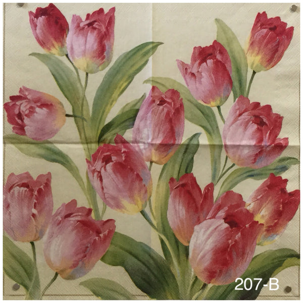 FL-207 Pretty Tulips Napkin for Decoupage