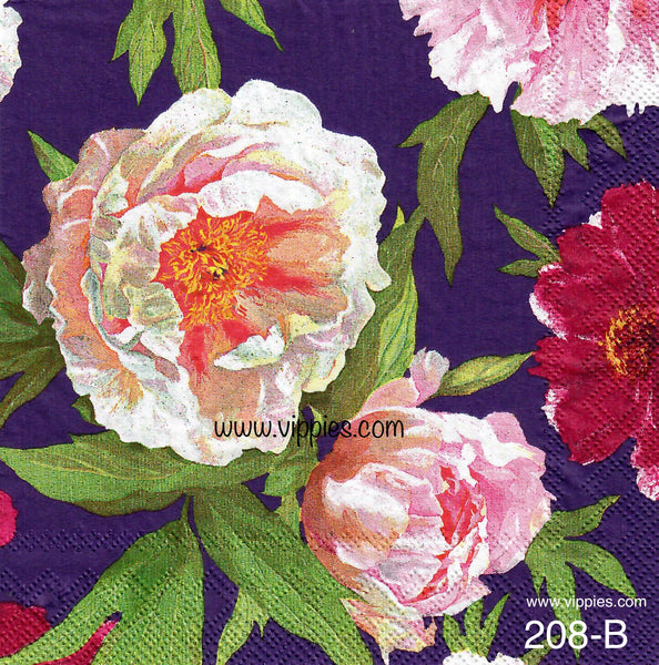 FL-208 Pink Gardenias Napkin for Decoupage