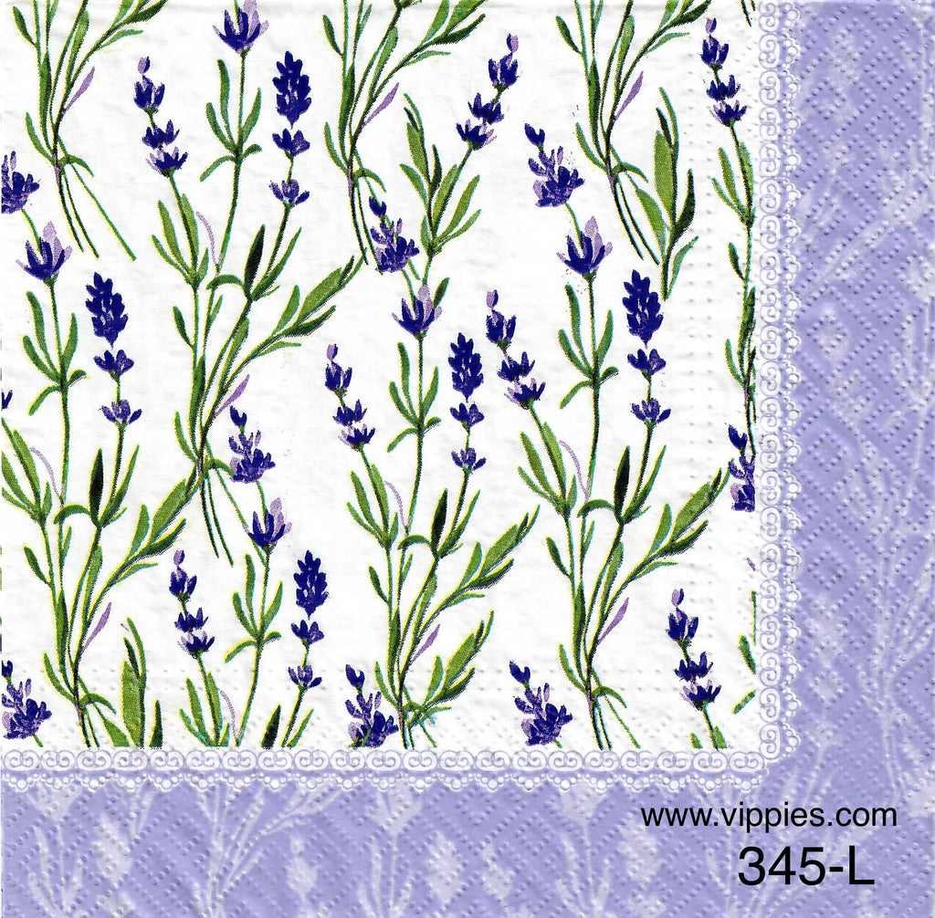 FL-345 Lavender Napkin for Decoupage