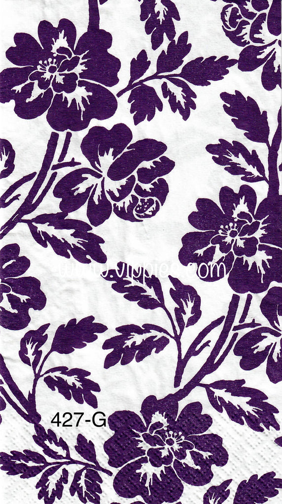 FL-427 Purple Floral Guest Napkin for Decoupage