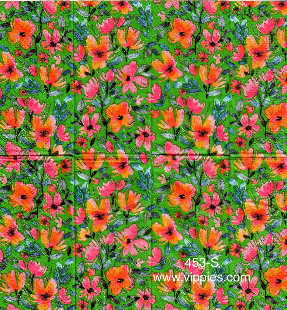 FL-453 Orange Poppies Sniffer Napkin for Decoupage