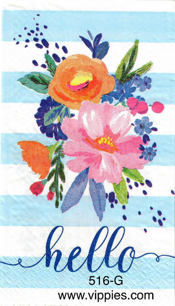 FL-516 Hello Floral Guest Napkin for Decoupage