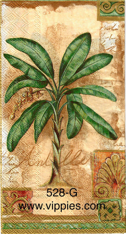 FL-528 Palm Tree Guest Napkin for Decoupage