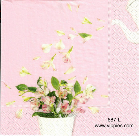 FL-687 Tea Pot Petals Napkin for Decoupage