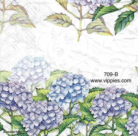 FL-709 Blue Hydrangia Napkin for Decoupage