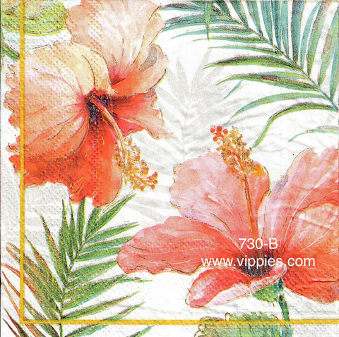 FL-730 Red Hibiscus Napkin for Decoupage