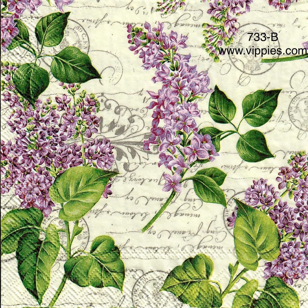 FL-733 Lilacs Writing Napkin for Decoupage