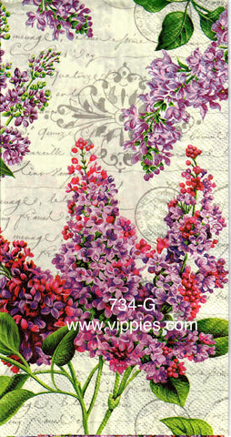 FL-734 Lilacs Buds Guest Napkin for Decoupage