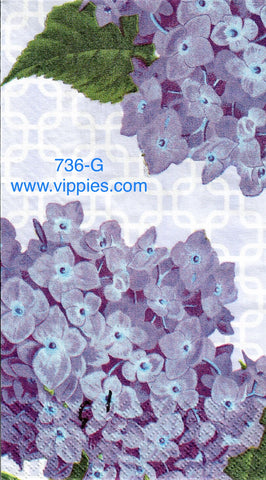 FL-736 Blue Hydrangias 2 Guest Napkin for Decoupage