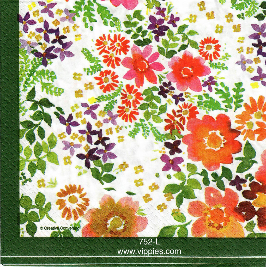FL-752 Summer Flowers Napkin for Decoupage