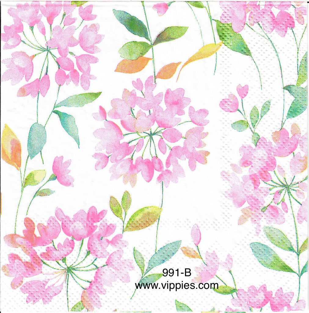 FL-991 Pink Ball Floral Napkin for Decoupage
