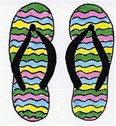 Flip Flop Wavy Double-Sided Rubber Stamp DBL-WAVY