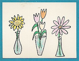 Sunflower Vase 2 Rubber Stamp 2511D