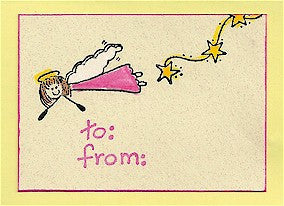 Flying Angel Rubber Stamp 2265D