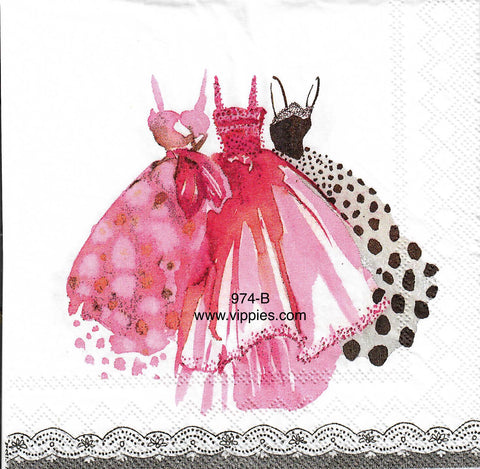GF-974 In the Pink Dresses Napkin for Decoupage
