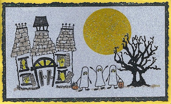 Ghost Trio Rubber Stamp 2402E