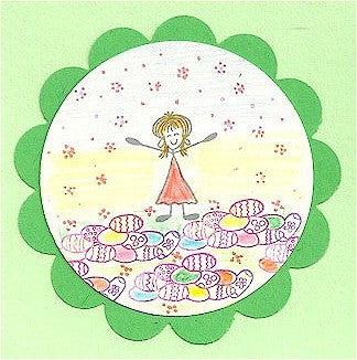 Easter Egg Pile Rubber Stamp 2372C