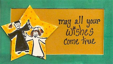 Wishes Come True Rubber Stamp 2412D