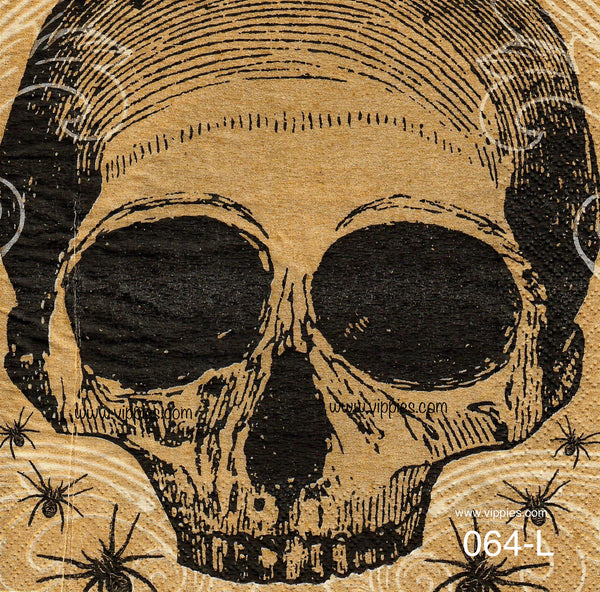 HWN-064 Skull/Spiders Napkin for Decoupage