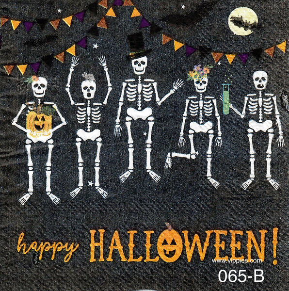 HWN-065 Jumping Skeletons Napkin for Decoupage