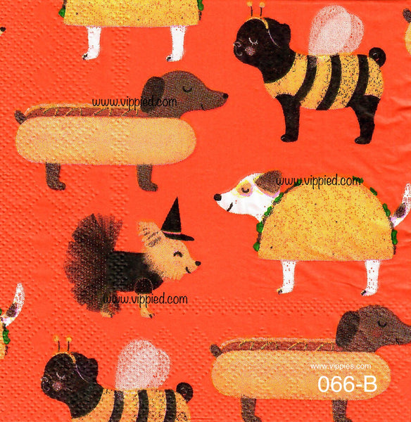 HWN-066  Halloween Dogs Napkin for Decoupage