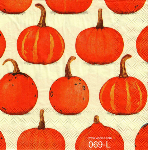 HWN-069 Pumpkin Background Napkin for Decoupage