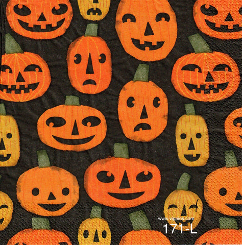 HWN-171 Pumpkins Allover Napkin for Decoupage