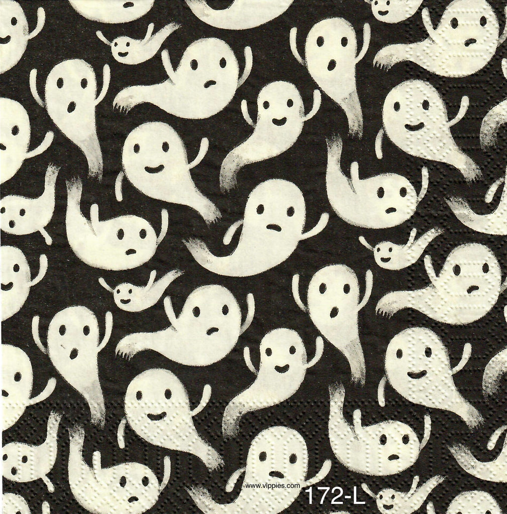 HWN-172 White Ghosts Napkin for Decoupage