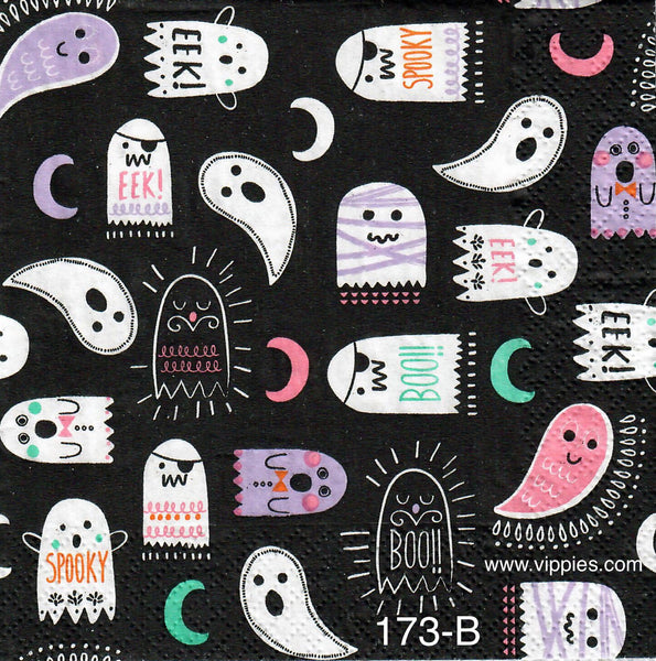 HWN-173 Cartoony Ghosts Napkin for Decoupage