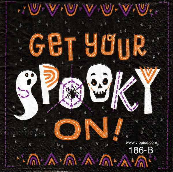 HWN-186 Get Your Spooky On Napkin for Decoupage