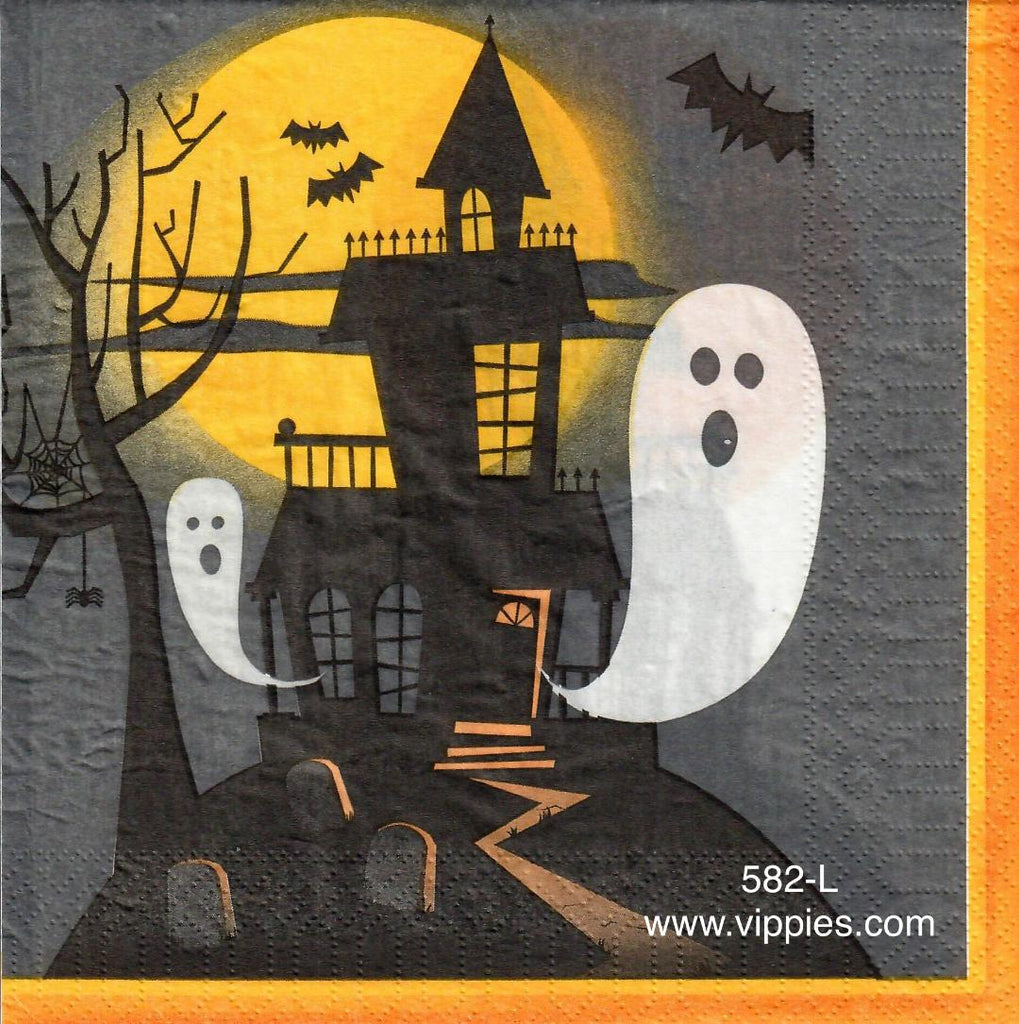 HWN-582 Ghost House Napkin for Decoupage