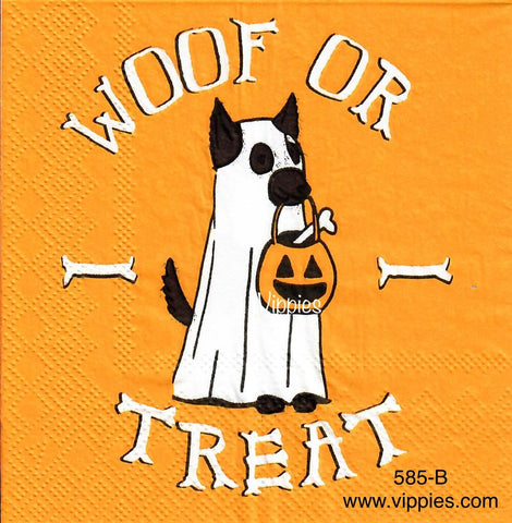 HWN-585 Woof or Treat Napkin for Decoupage