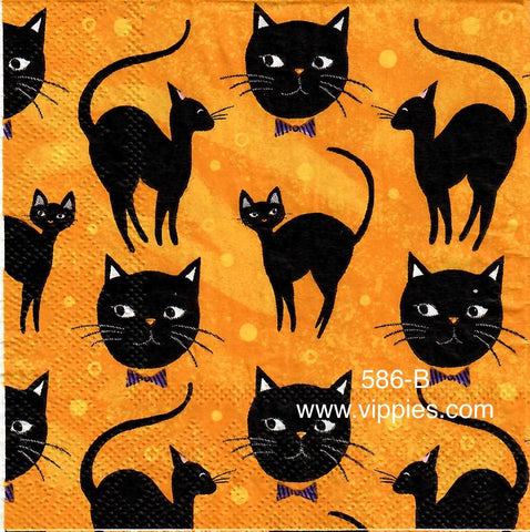 HWN-586 Halloween Cats Napkin for Decoupage