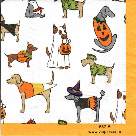 HWN-587 Halloween Dogs Napkin for Decoupage