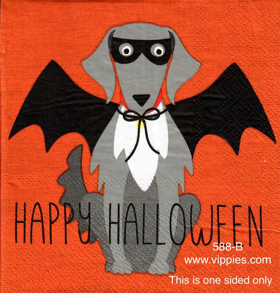 HWN-588 Happy Halloween Vampire Dog Napkin for Decoupage