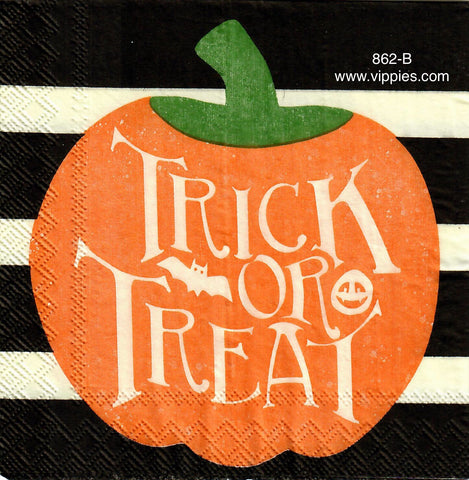 HWN-862 Trick or Treat Pumpkin Napkin for Decoupage