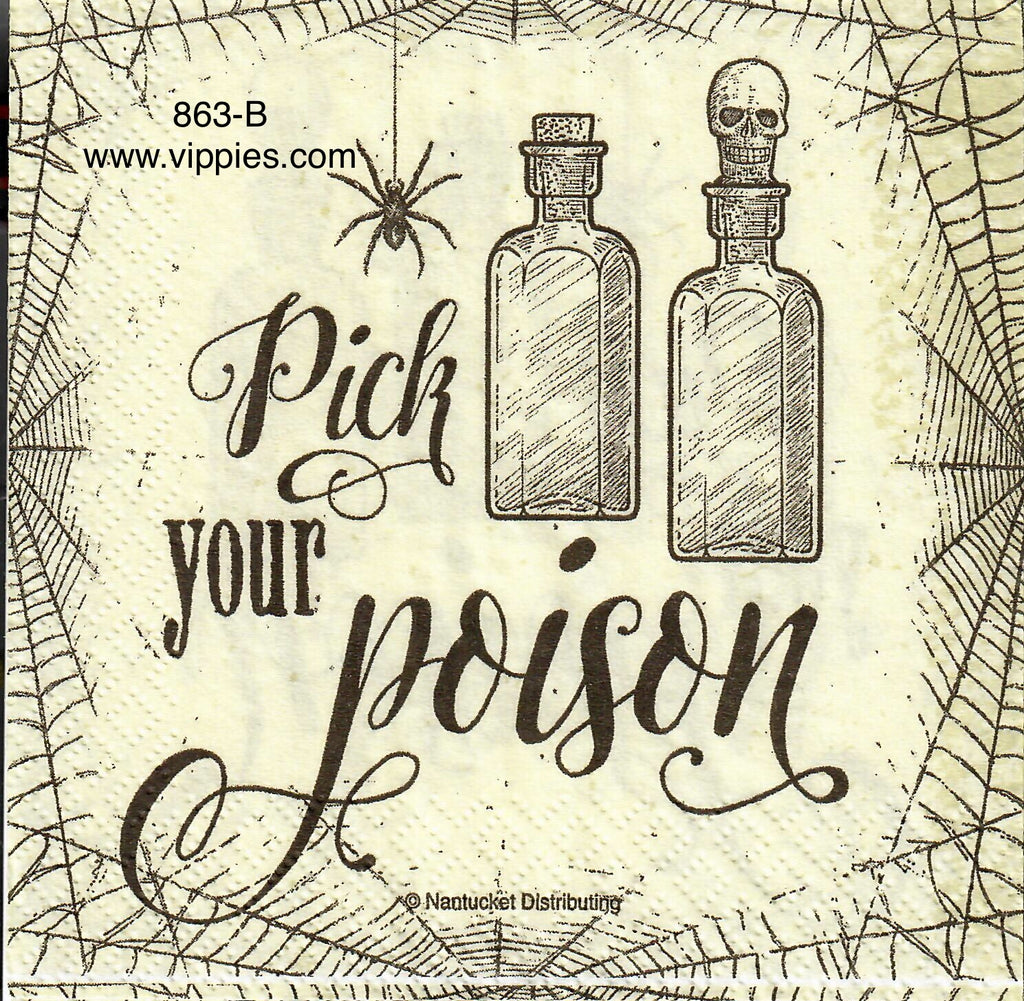 HWN-863 Pick Your Poison Napkin for Decoupage