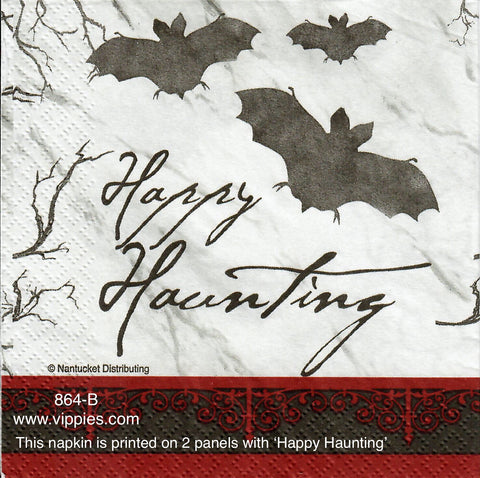 HWN-864 Happy Haunting Bats Napkin for Decoupage