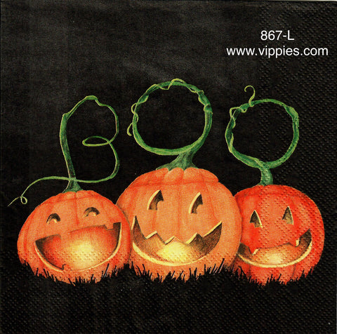 HWN-867 Boo Pumpkin Napkin for Decoupage