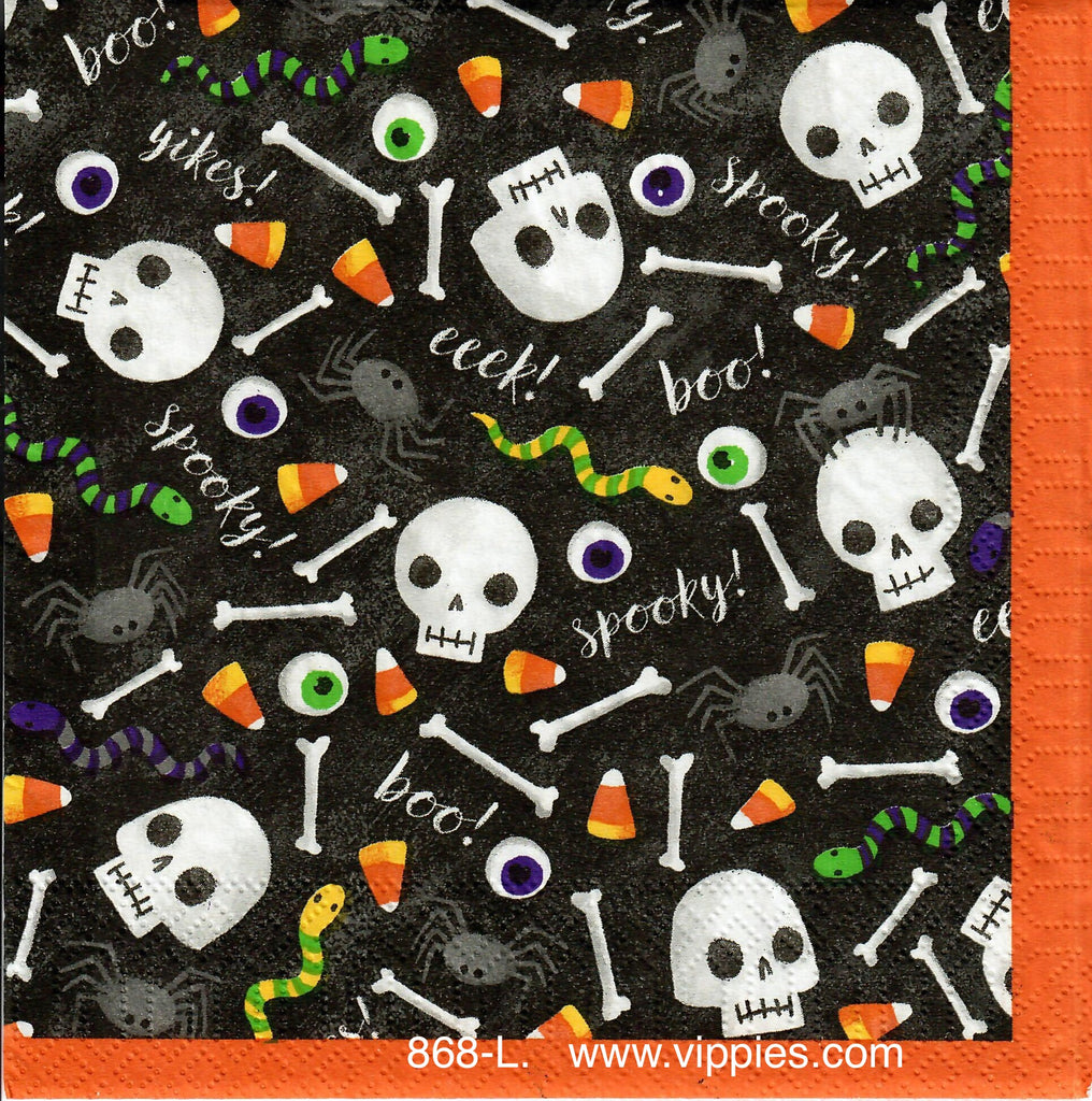 HWN-868 Trick or Treat Skulls Napkin for Decoupage