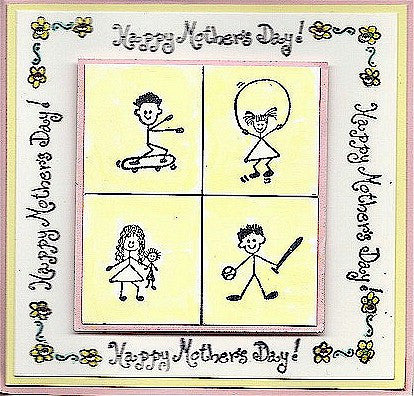 Girl Jump Rope Rubber Stamp 2116C