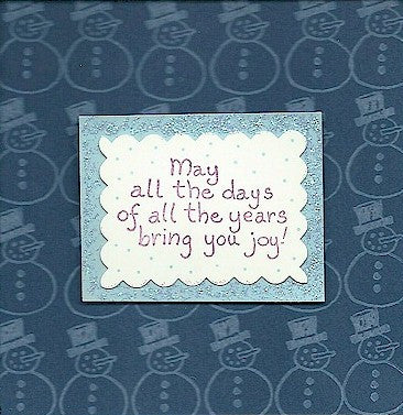 Days Bring Joy Rubber Stamp 2344D