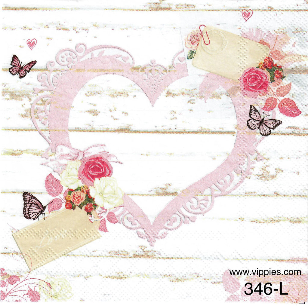 LVY-346 Love Tags Napkin for Decoupage
