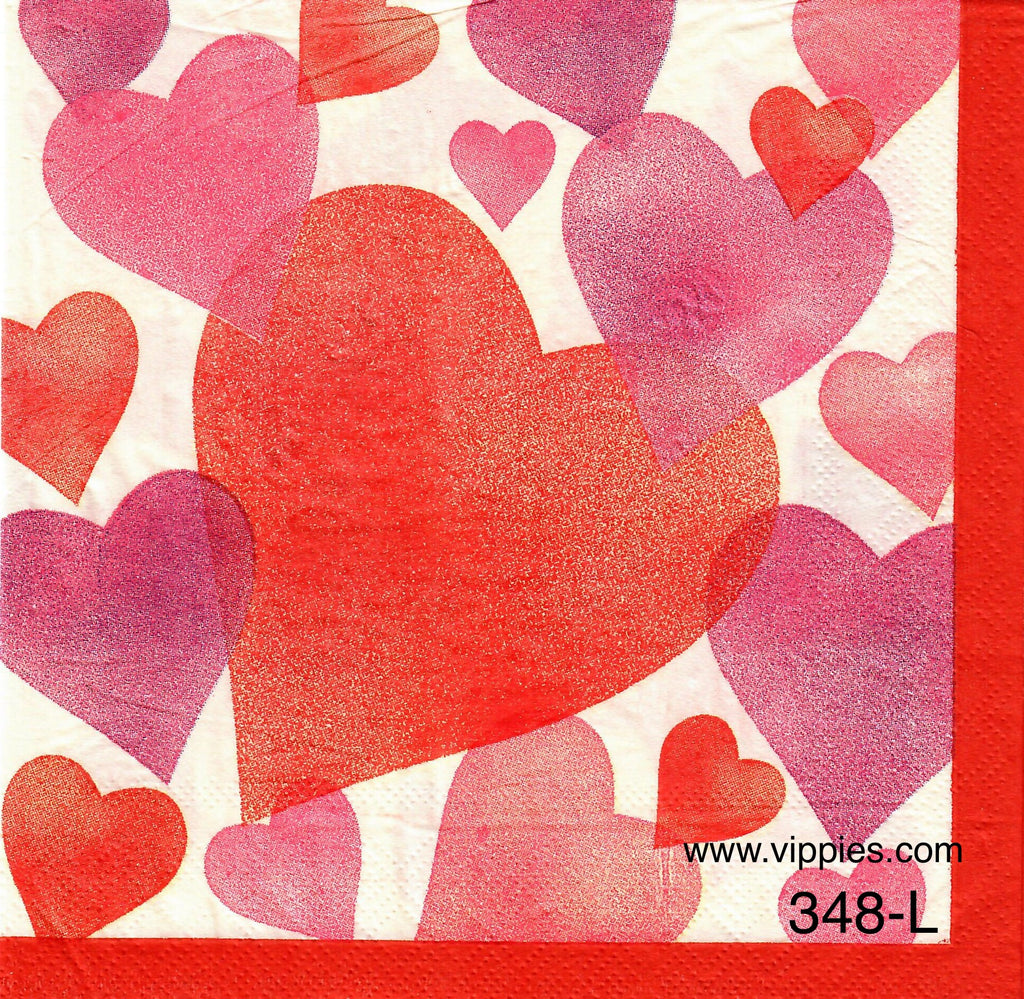 LVY-348 Faded Hearts Napkin for Decoupage