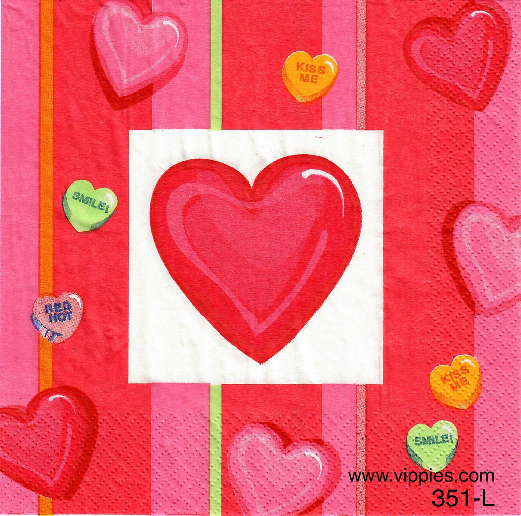 LVY-351 Candy Hearts Napkin for Decoupage