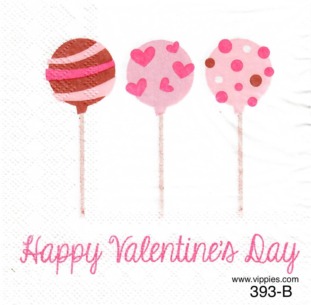LVY-393 Valentine Cake Pops Napkin for Decoupage