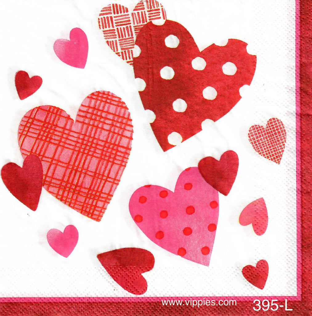 LVY-395 All Sizes Hearts Napkin for Decoupage