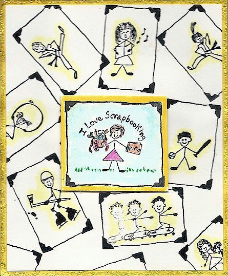 Picture Border Rubber Stamp 7680D